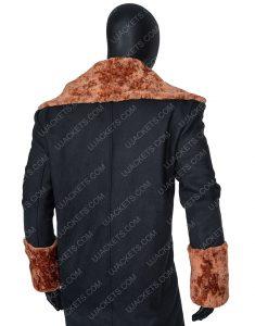 Anthony McCoy Black Suede Leather Shearling Yahya Abdul-Mateen Candyman Coat