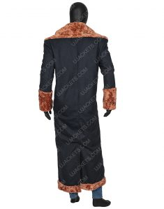 Anthony McCoy Black Suede Leather Shearling Yahya Abdul-Mateen II Candyman Coat