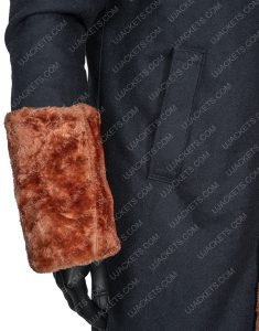 Anthony McCoy Black Suede Leather Shearling Yahya Abdul-Mateen II Coat