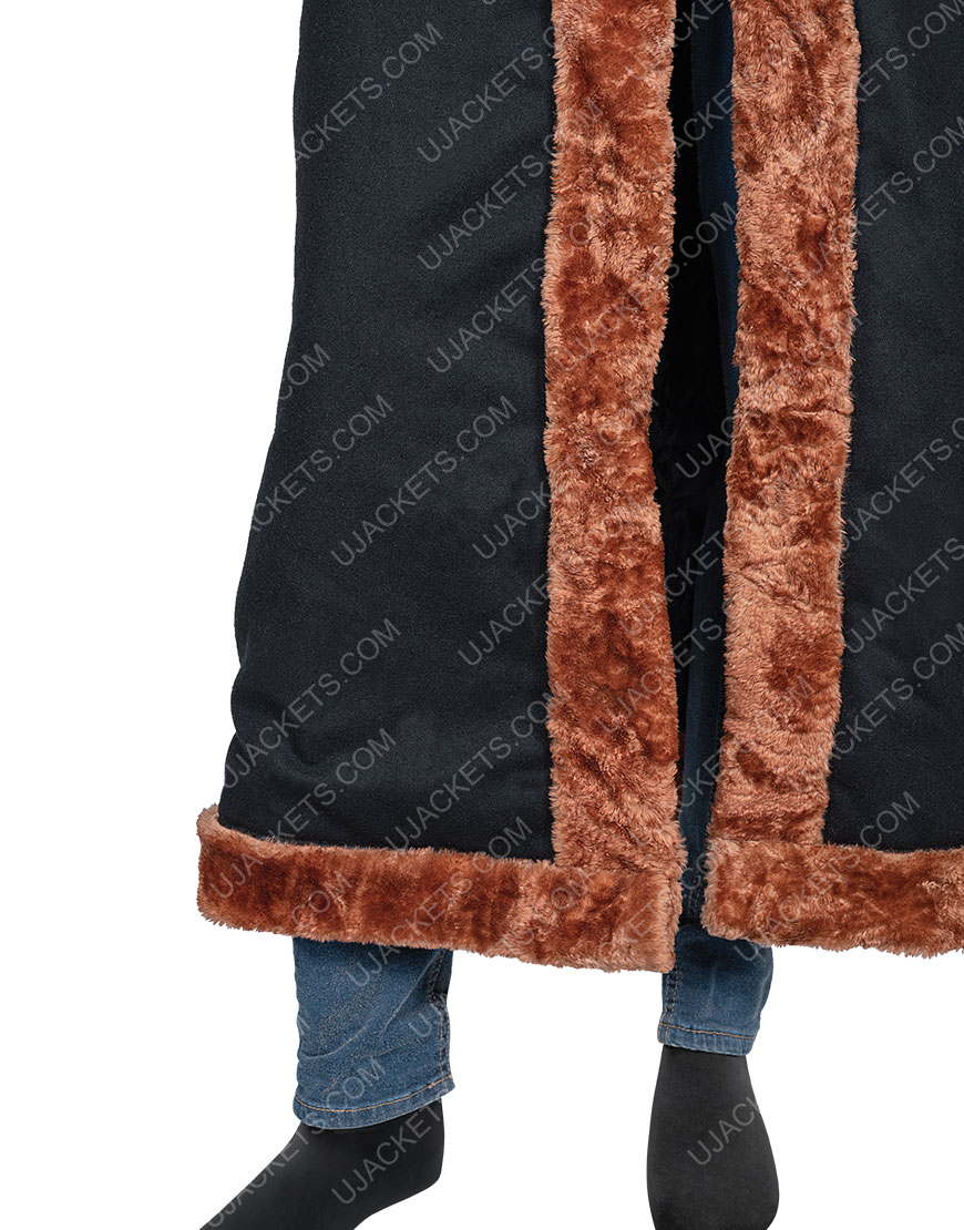 Anthony McCoy Black Suede Leather Yahya Abdul-Mateen II Candyman Coat