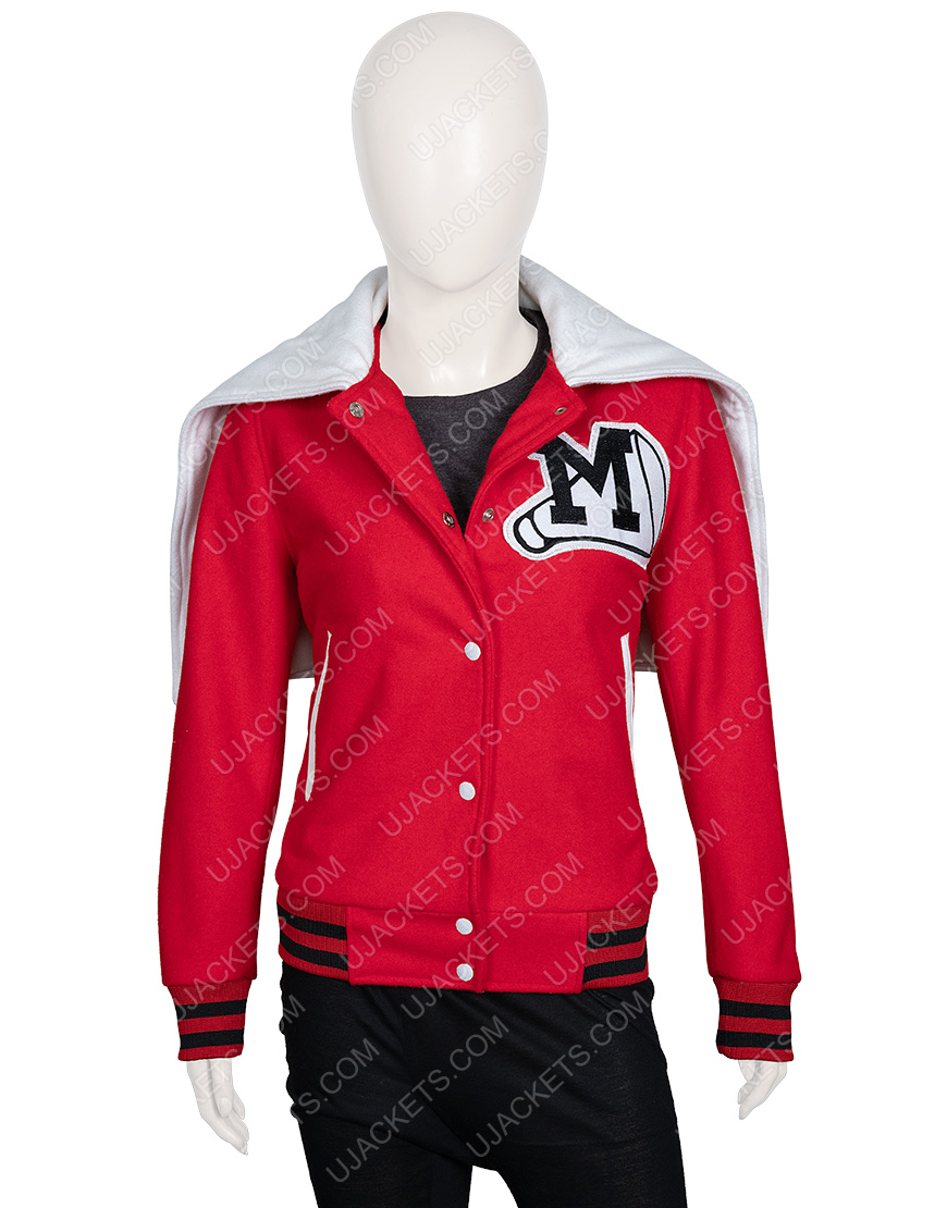 Cheerleading Glee Cheerios Red Bomber Jacket