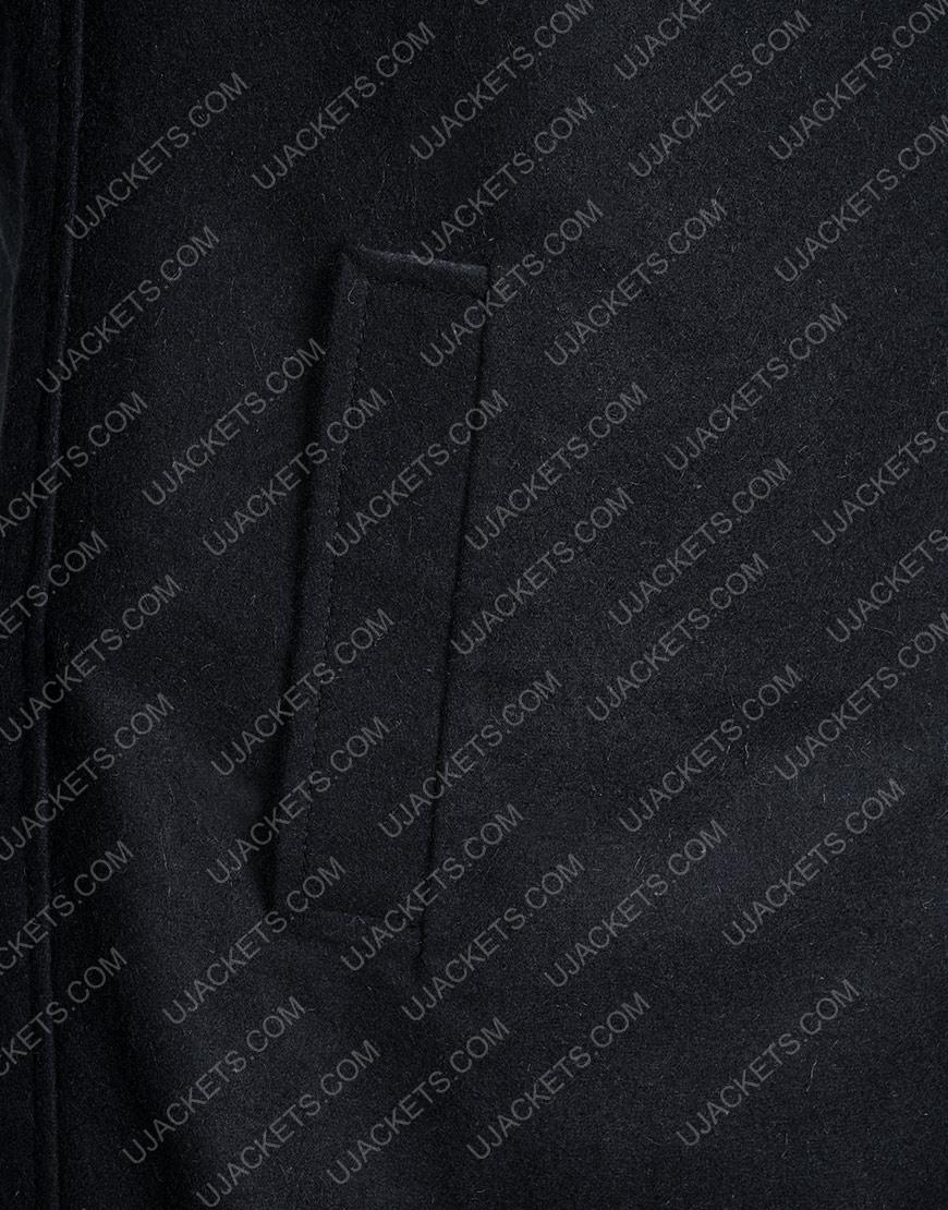 Game Resident Evil Village Black Woolen Trench Coat