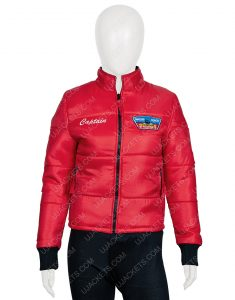 Jackie R. Jacobson Dylan Malibu Rescue The Next Wave Red Bomber Jacket
