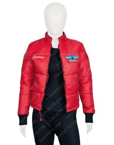 Jackie R. Jacobson Dylan Malibu Rescue The Next Wave Red Bomber Style Jacket