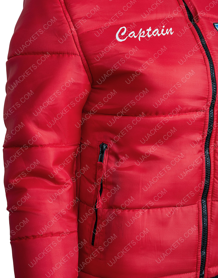 Malibu Rescue The Next Wave Red Bomber Style Jacket