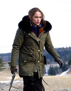 Melanie-Scrofano-Wynonna-Earp-Fur-Collar-Jacket