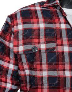 Ryan Bingham Yellowstone S03 Walker Red Checkered Jacket