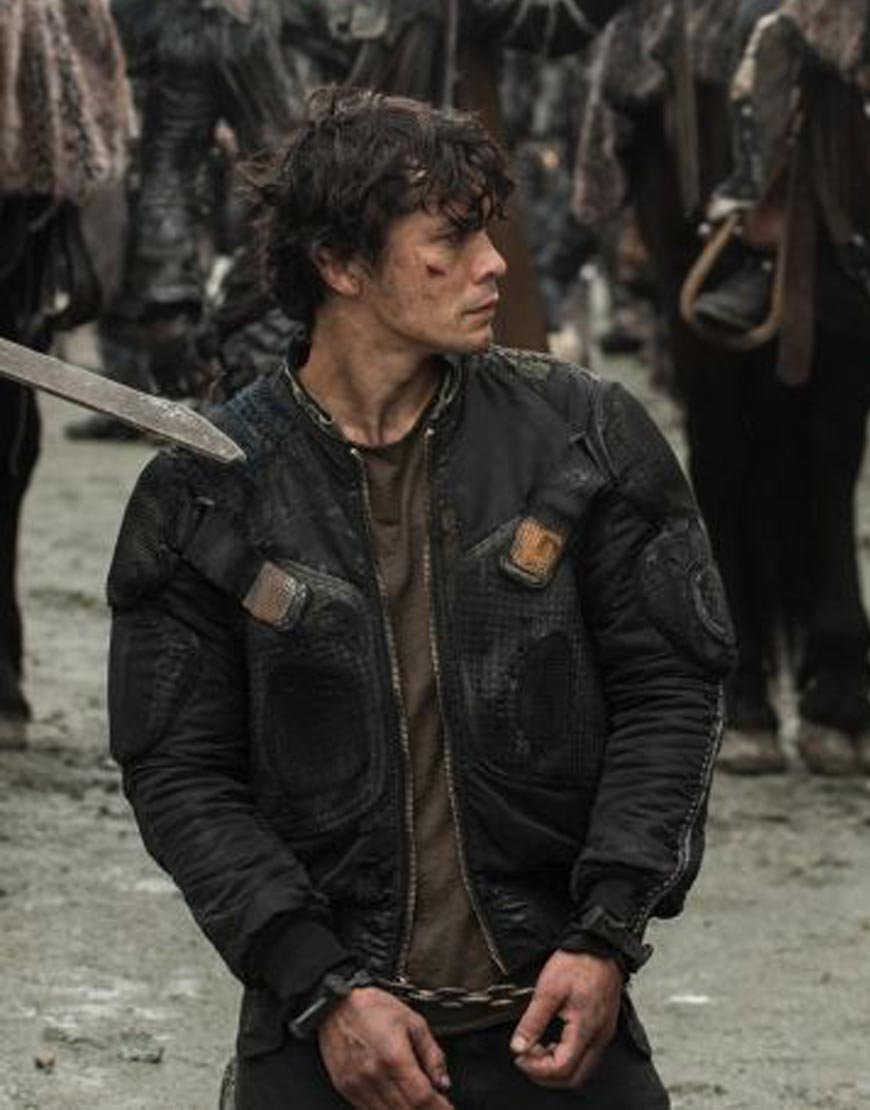The-100-Season-7-Bob-Morley-Black-Leather--Jacket