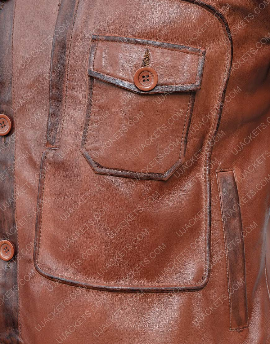 The Aviator Howard Hughes DiCaprio Brown Leather Jacket