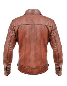 The Aviator Howard Hughes Leonardo Brown Leather Jacket