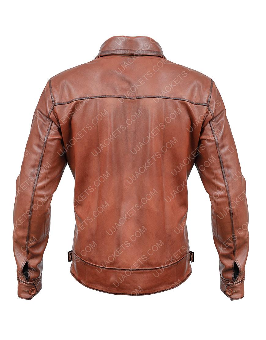 The Aviator Howard Hughes Leonardo Brown Leather Jacket