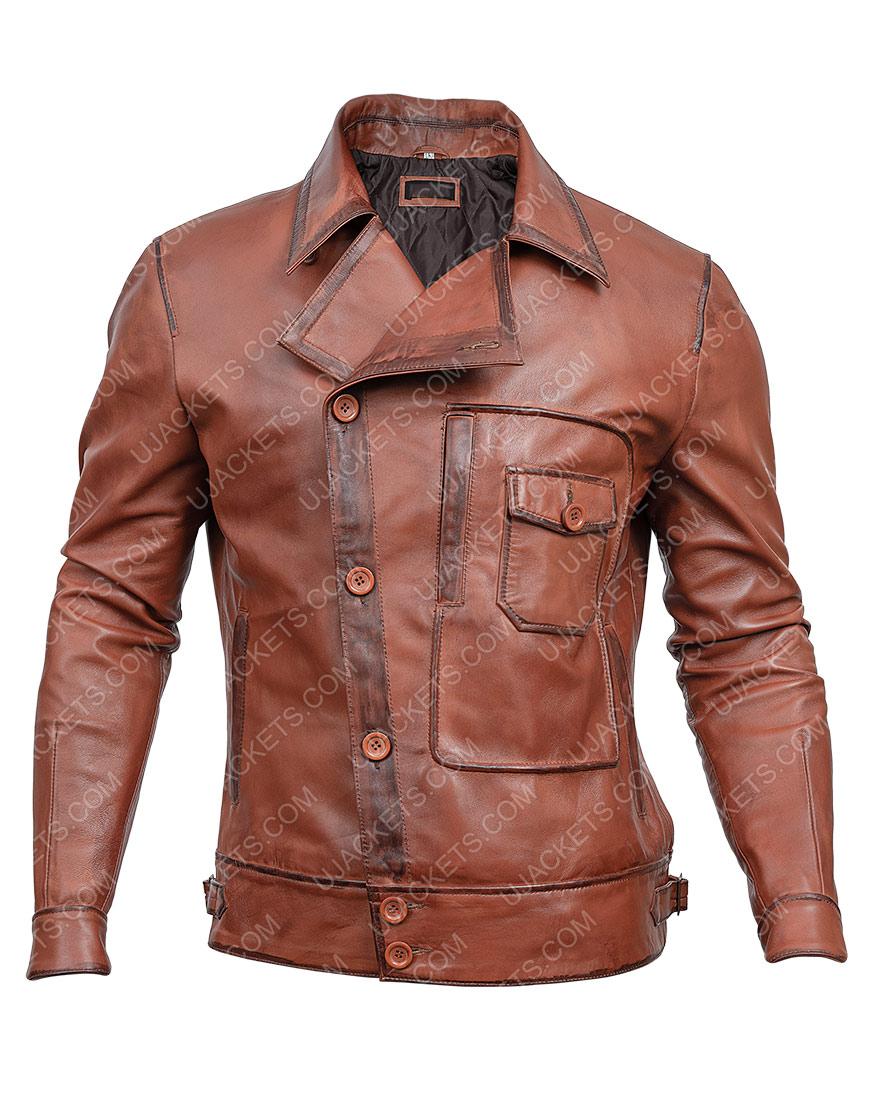The Aviator Howard Hughes Leonardo DiCaprio Brown Leather Jacket