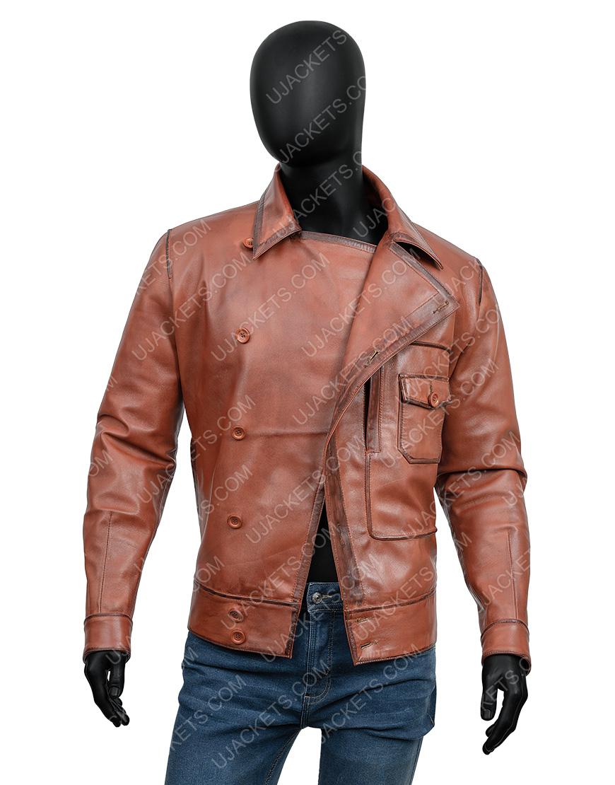 The Aviator Howard Hughes Leonardo Leather Jacket