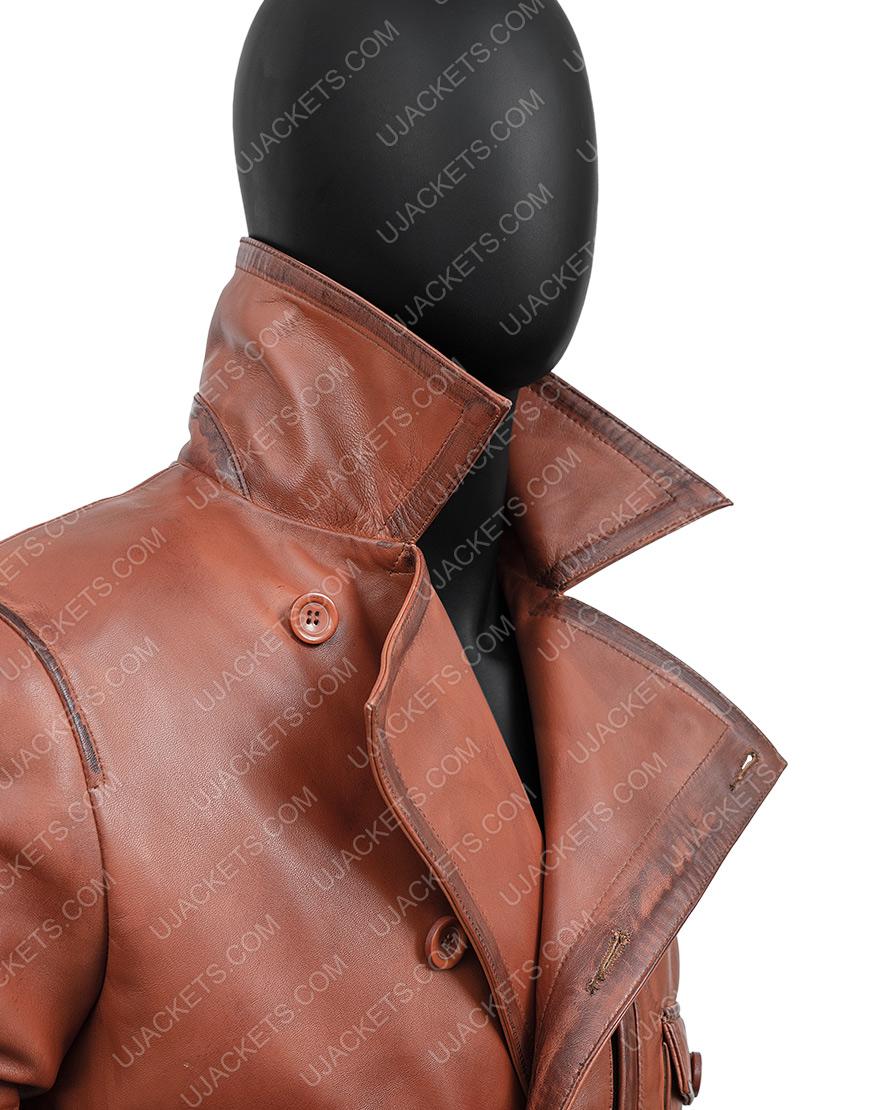 The Aviator Leonardo DiCaprio Brown Leather Jacket