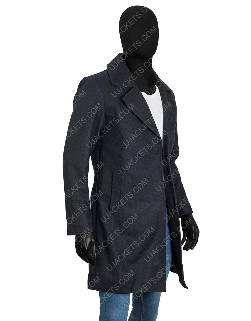 Video Game Resident Evil Village Black Woolen Trench Coat