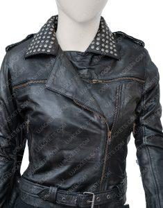 Vis a Vis El Oasis Fringe Style Macarena Ferreiro Leather Jacket