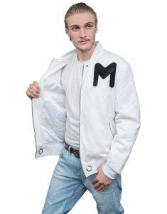 American DJ Marshmello White Printed Logo Cotton Jacket