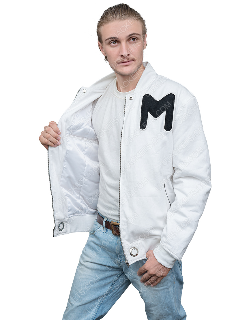 American DJ Marshmello White Printed Logo Cotton Jacket