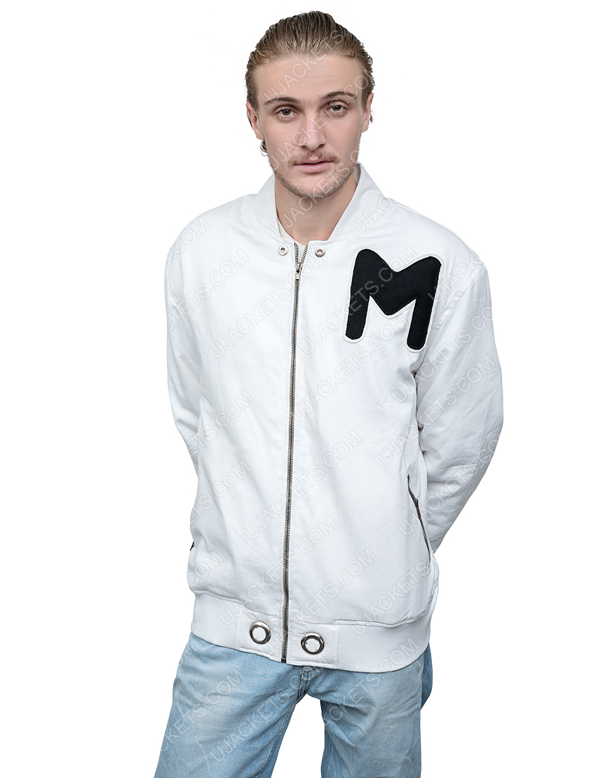 American DJ Marshmello White Printed Logo Jacket