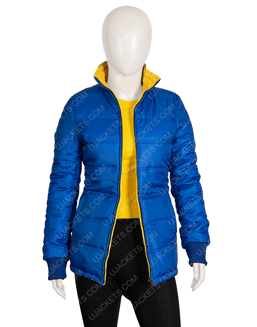 American Singer Billie Eilish Blue Puffer Jacket