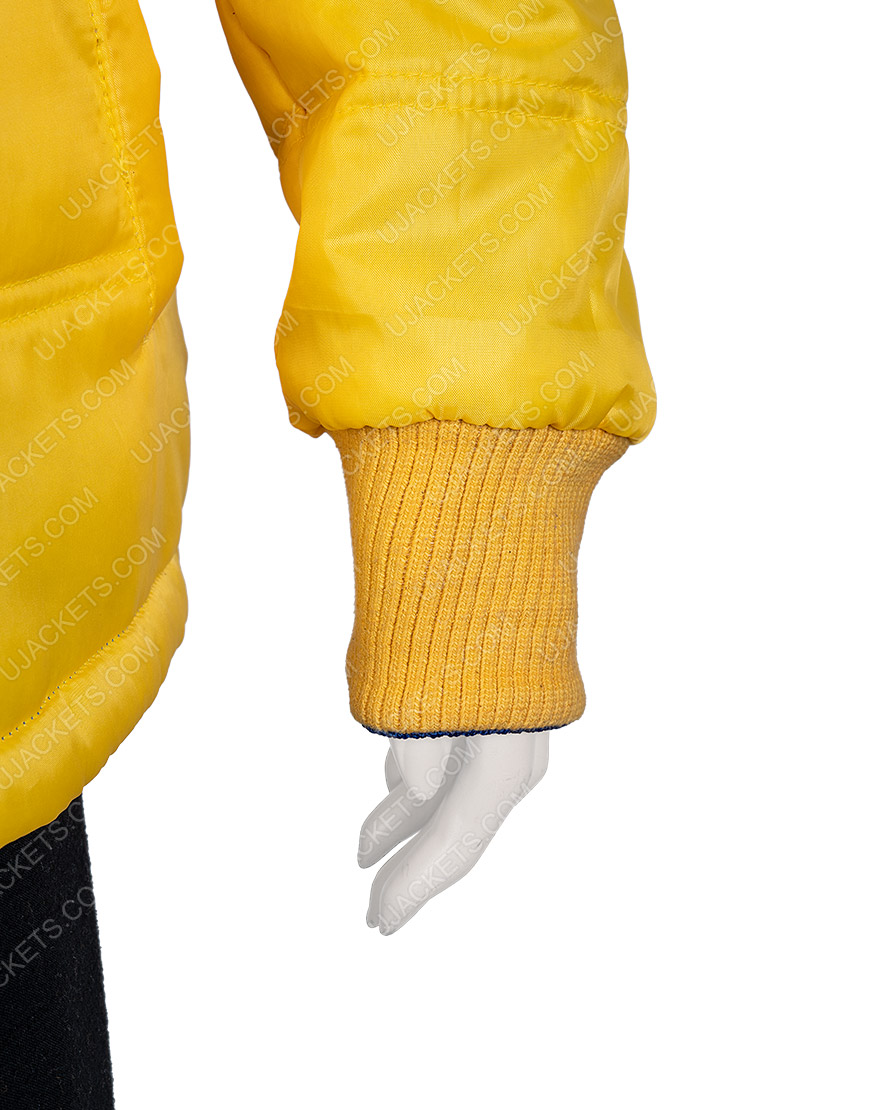 American Singer Billie Eilish Yellow Puffer Jacket