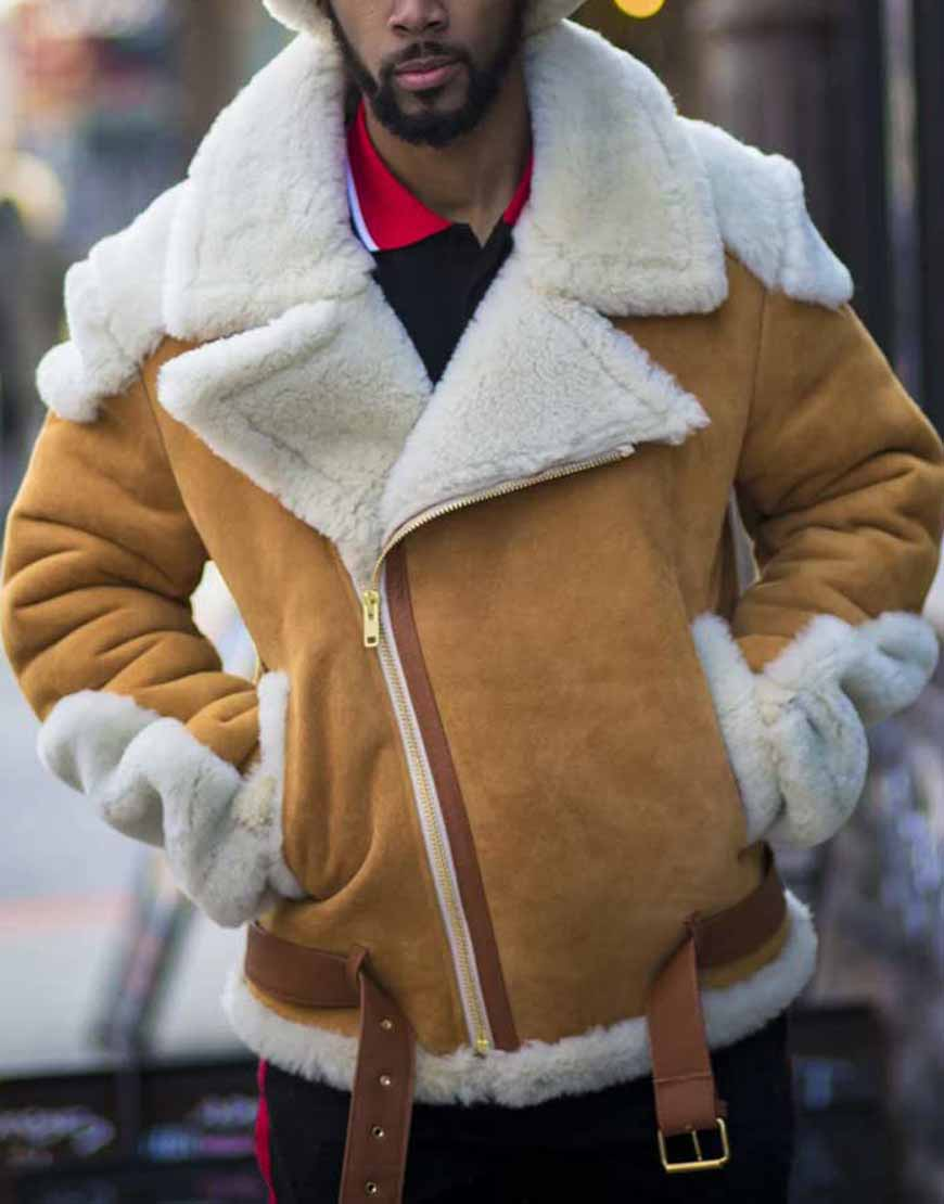 Andrew-Tan-Suede-Leather-Motorcycle-Shearling-Jacket
