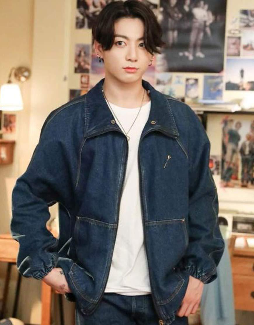 BTS-Dynamite-Jungkook-Denim-Bomber-Jacket
