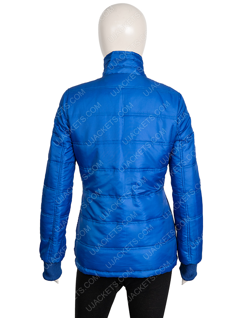 Billie Eilish American Singer Blue Puffer Jacket