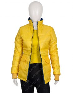 Billie Eilish American Singer Yellow Puffer Jacket