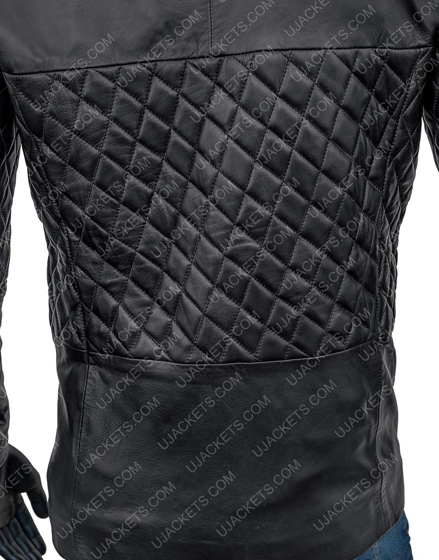 Cafe Racer Biker Lambskin Black Leather Racer Jacket