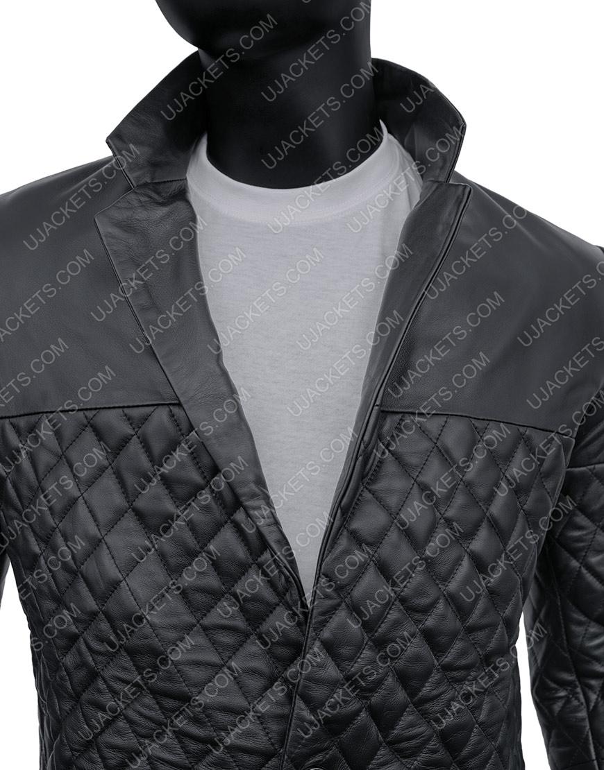 Cafe Racer Biker Motorcycle Black Genuine Lambskin Jacket