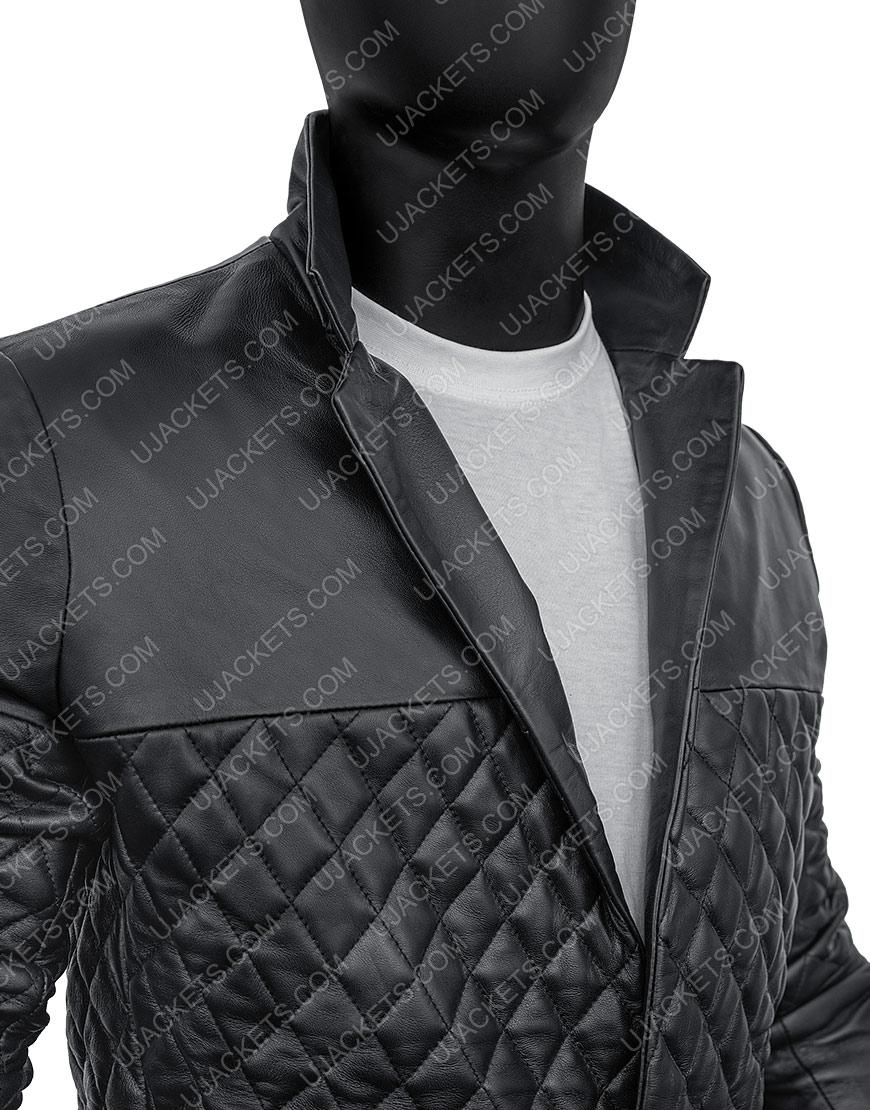 Cafe Racer Biker Motorcycle Black Genuine Lambskin Leather Jacket