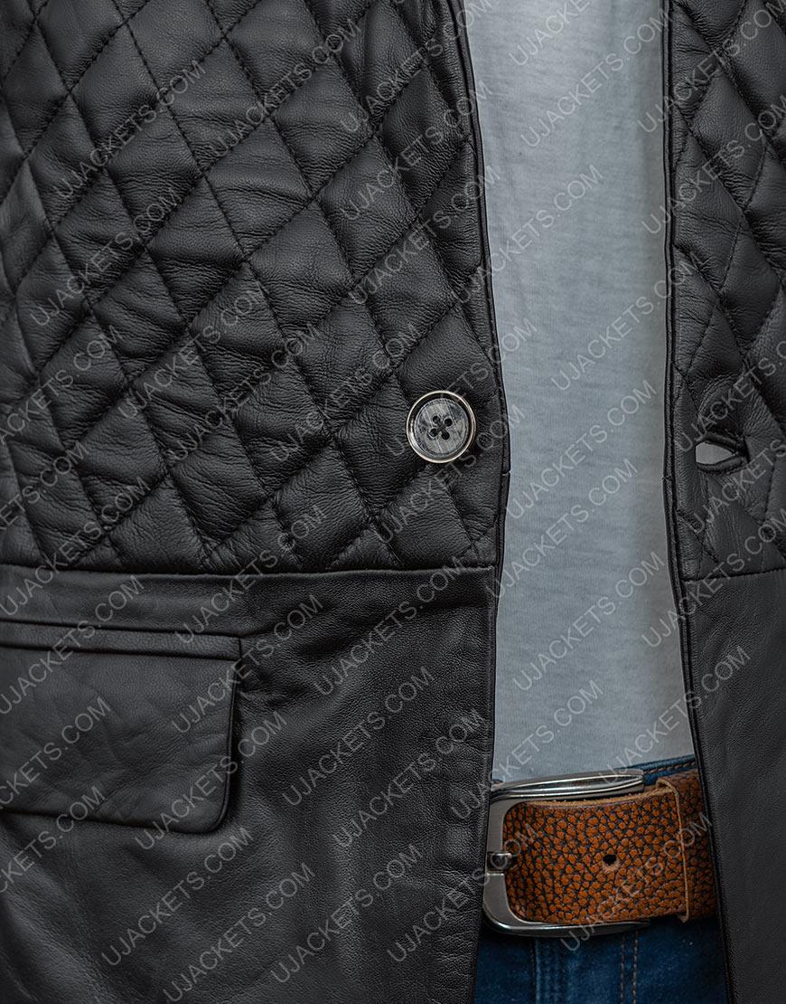 Cafe Racer Biker Motorcycle Black Genuine Leather Jacket