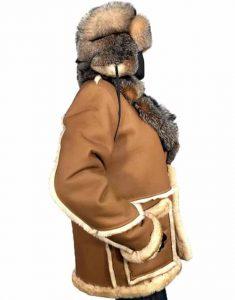 Calvin-Shearling-Toggled-Coat-With-Fox-Collar-