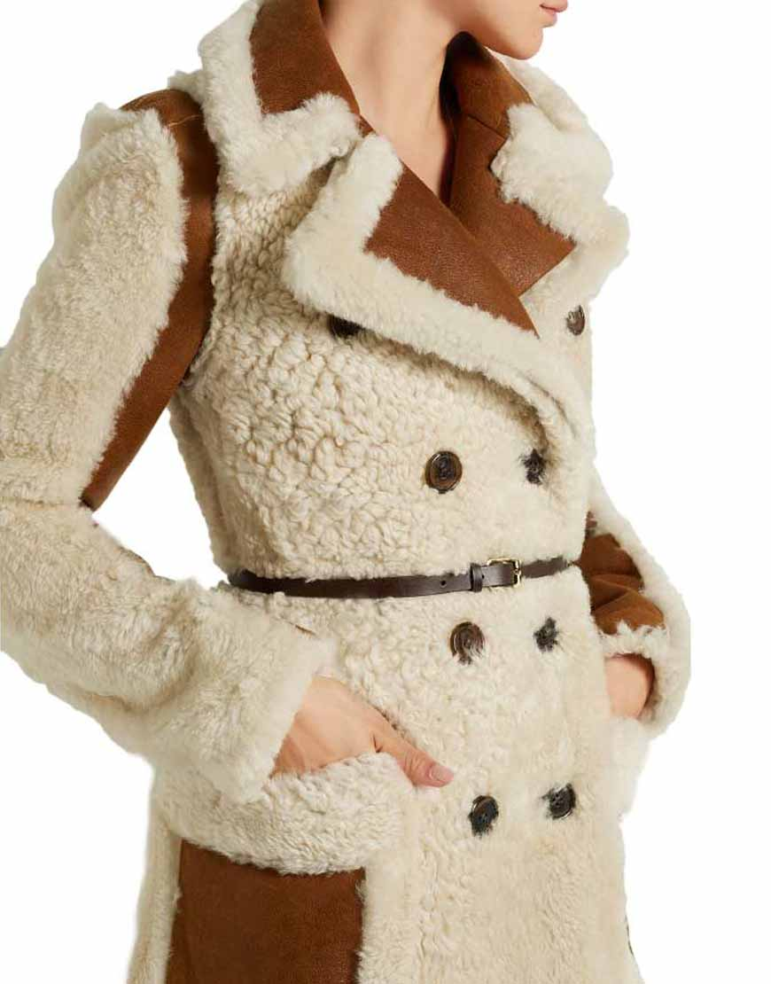 Camila-Double-Breasted-Shearling-Coat-With-Leather-Belt-