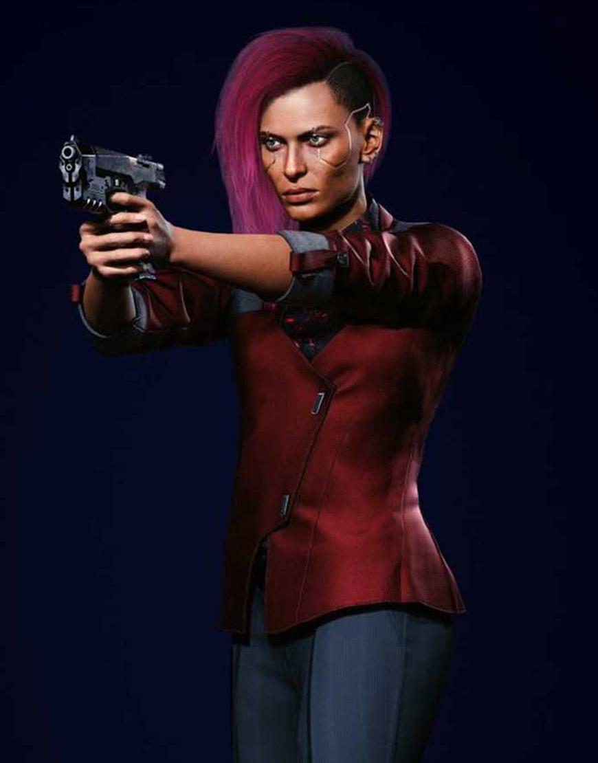 Cyberpunk-2077-V-Female-Maroon-Jacket