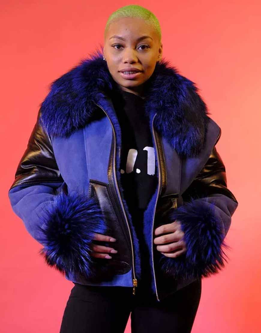 Elizabeth-Shearling-Jacket-With-Blue-Fur