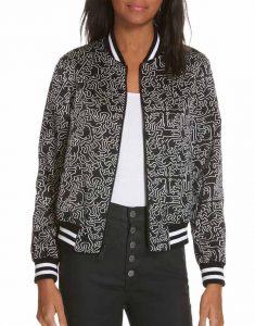 Emily-In-Paris-Emily-Black-Bomber-Jacket