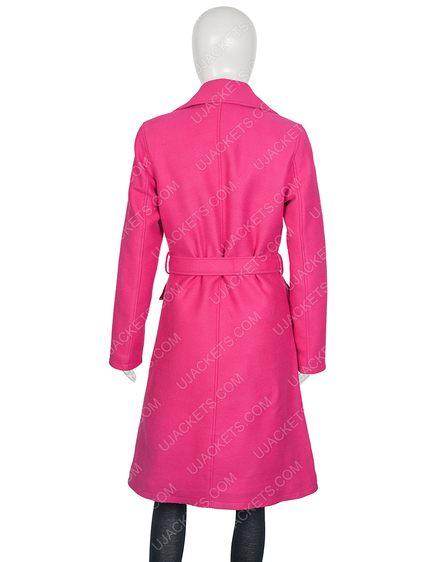 Emily In Paris Lily Collins Emily Pink Belted Coat