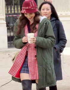 Emily-in-Paris-Lily-Collins-Emily-Green-Mid-Length-Coat-With-Hood