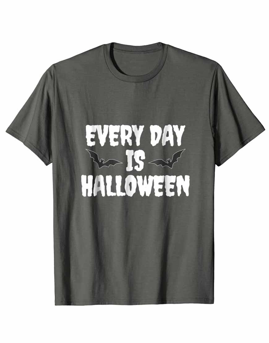 Every-day-Is-Halloween-Grey-T-Shirt
