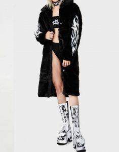 Fallen-Angel-Fur-Black-Trench-Coat
