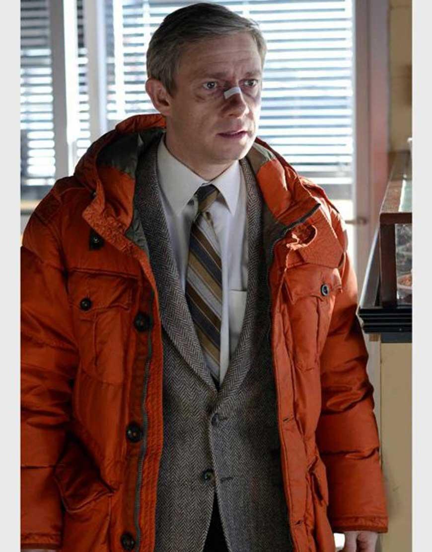 Fargo-Lester-Nygaard-Orange-Jacket