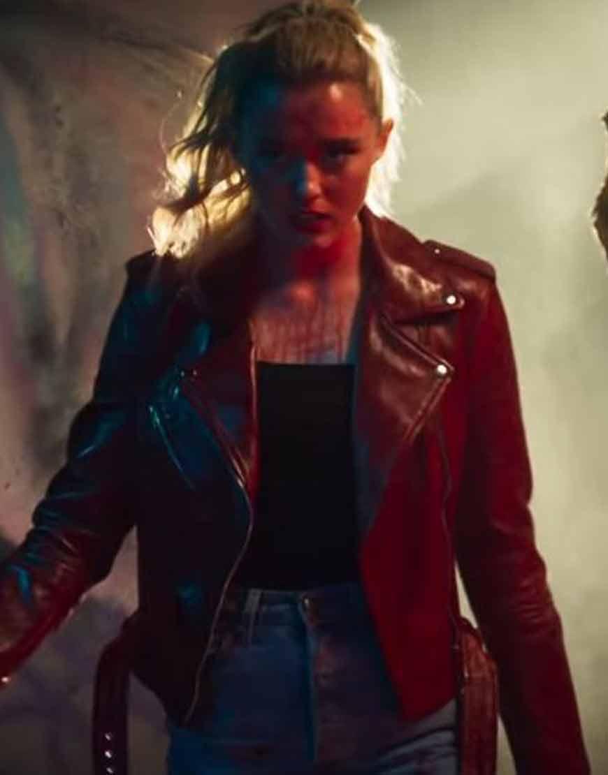 Freaky-Kathryn-Newton-Red-Leather-Jacket