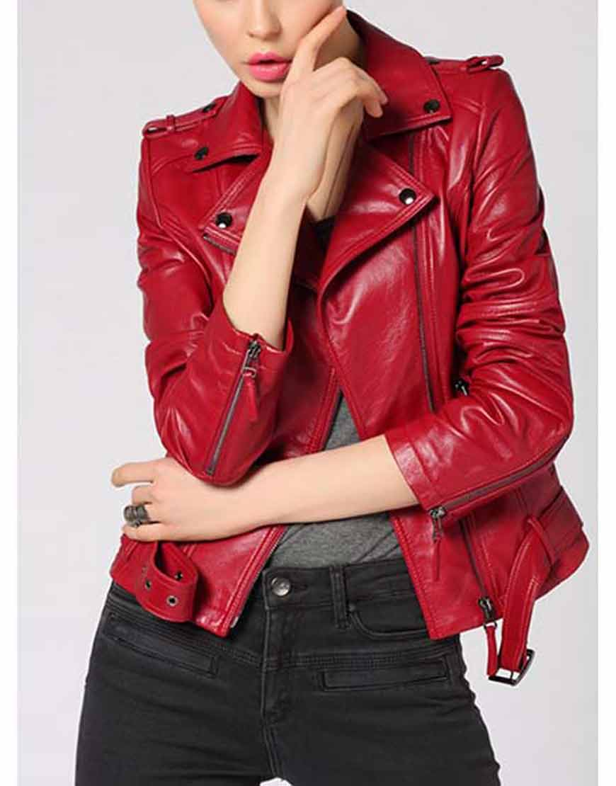 Freaky-Millie-Red-Biker-Leather-Jacket