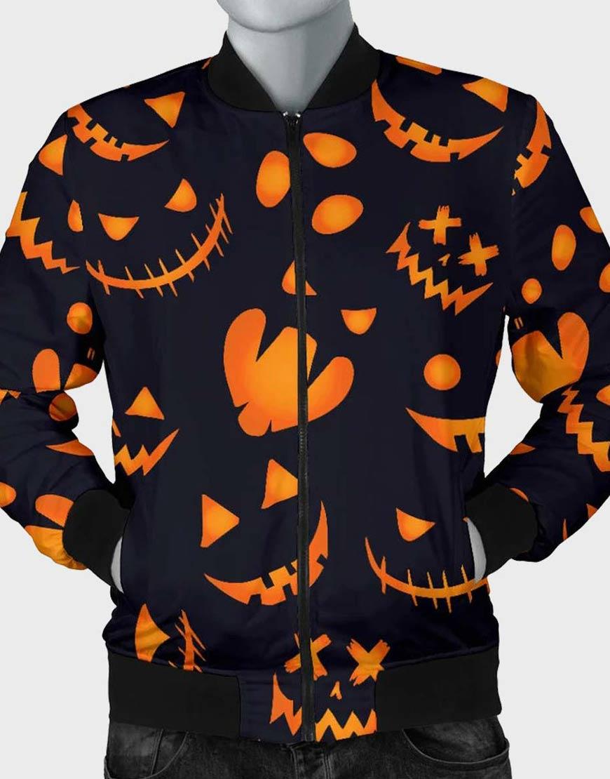 Halloween-Pumpkins-Bomber-Jacket