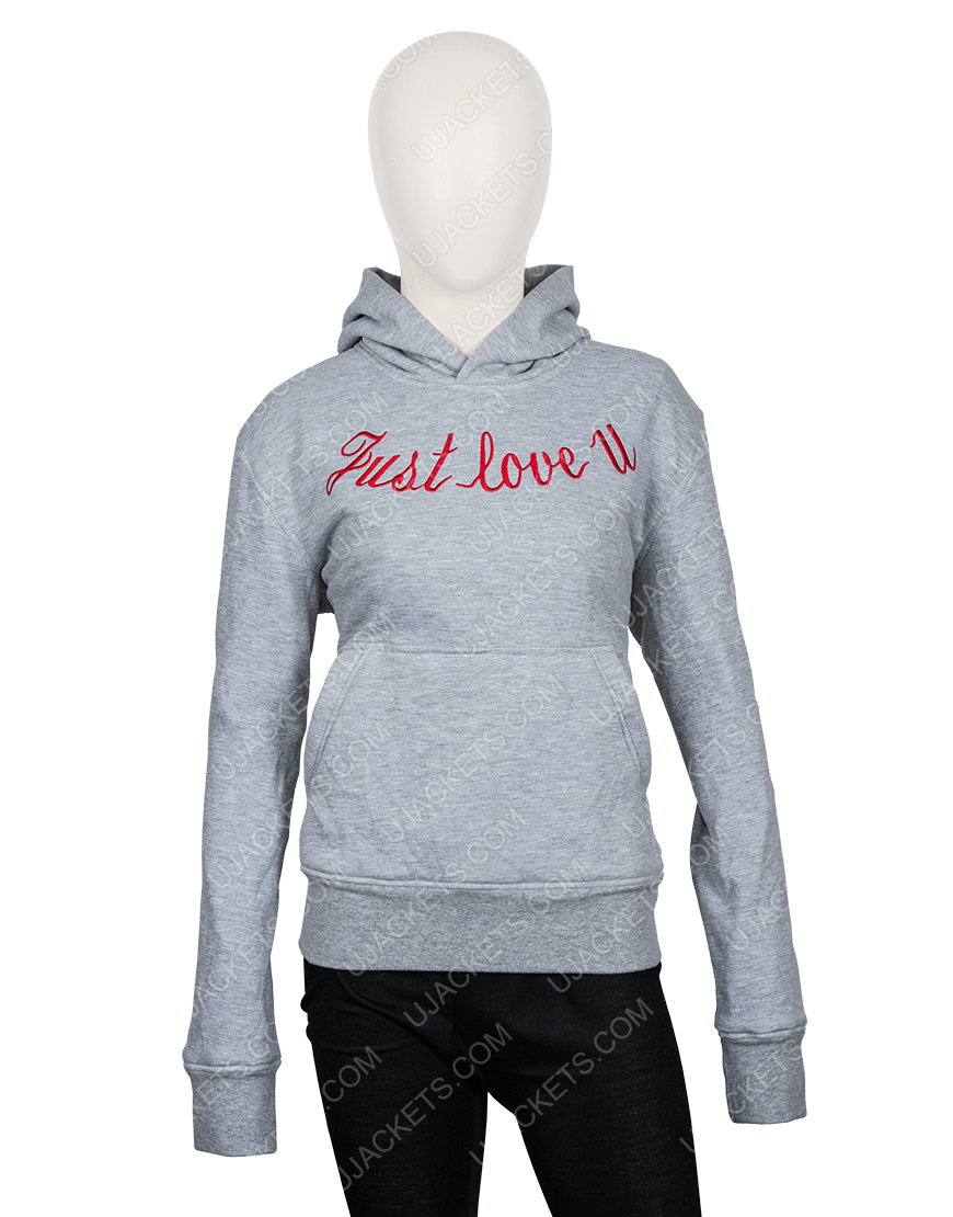 Just Love You Embroidered Hoodie