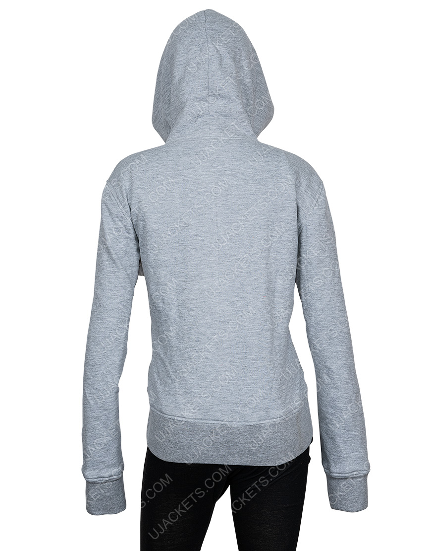 Just Love You Grey Embroidered Hoodie