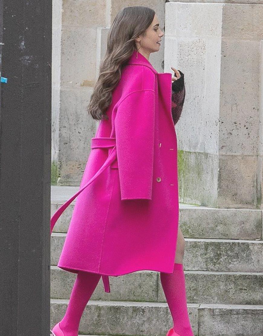 Lily Collins Emily in Paris Coat