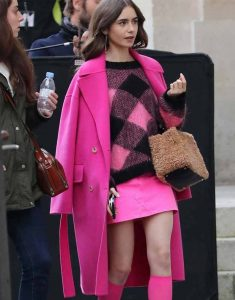 Lily-Collins-Emily-in-Paris-Pink-Coat